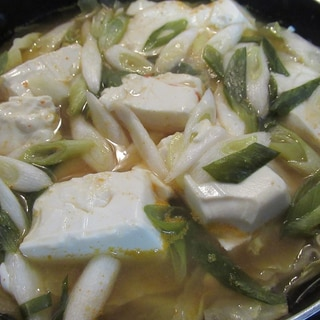 豆腐とキャベツのピリ辛味噌鍋
