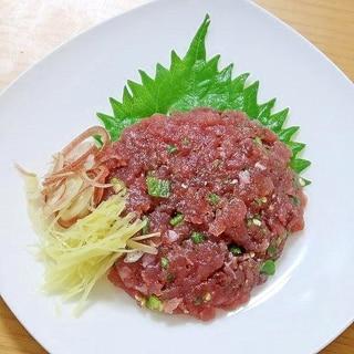 カツオの刺身でうずわのたたき風☆惣菜アレンジ
