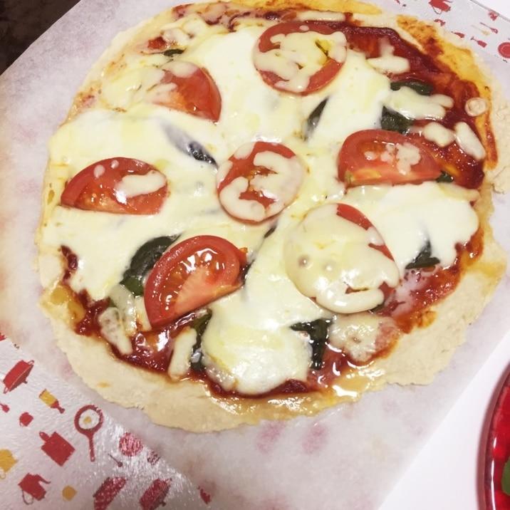 薄力粉だけで簡単!発酵なし!マルゲリータピザ