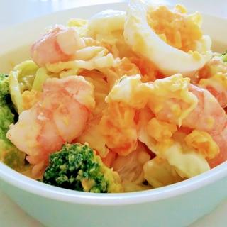 デパ地下風♪*えび&ブロッコリー&ゆで卵のサラダ*