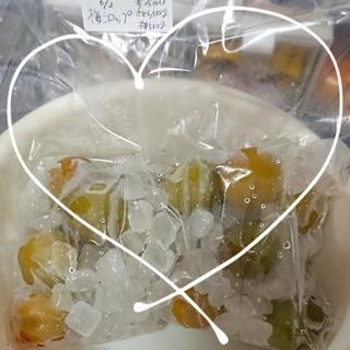 冷凍梅で梅シロップ お酢入り