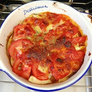 とろ〜り♪ナスとトマトのチーズ焼き
