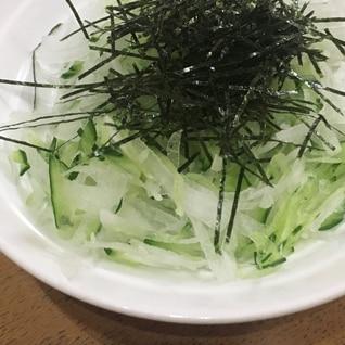 大根ときゅうりと海苔サラダ