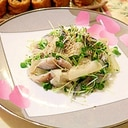 混ぜるだけ しめ鯖とガリのサラダ仕立て