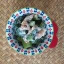 簡単おつまみ~小松菜の胡桃サラダ
