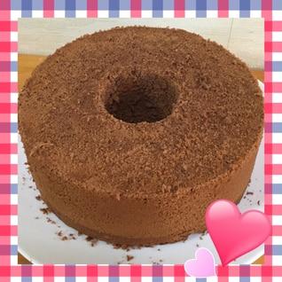 ココアのシフォンケーキ
