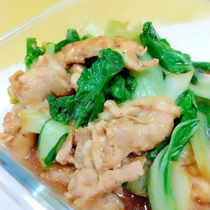 簡単!(^^)豚肉&しろ菜のオイスターソース炒め♪