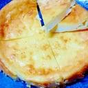 混ぜて焼くだけ、簡単チーズケーキ