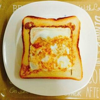 朝食☆卵とツナとチェダーチーズのトースト