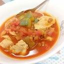 簡単(^^)豚肉+冷凍Mベジ+レンズ豆のトマト煮♪