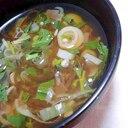 夏バテ解消トロトロスープみょうがとモロヘイヤスープ