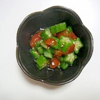 小鉢やいろいろ使えるオクラとトマトのお浸し