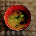 わかめとオクラの味噌汁
