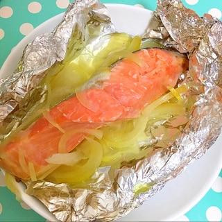 鮭と玉ねぎのホイル焼き♪