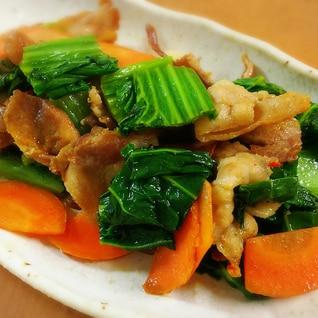 生高菜と豚バラの辛み炒め