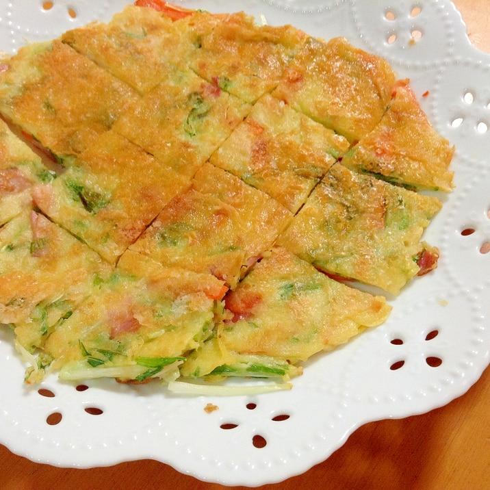 水菜・ベーコンのチヂミ