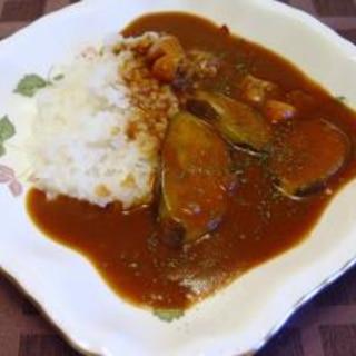鶏肉と茄子の和風カレー(圧力鍋)