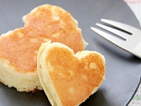 マヨ*ホットケーキ(卵がないときに)