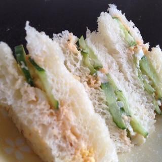 卵きゅうりサンドイッチ