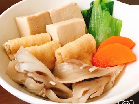 入れて煮るだけ!高野豆腐の簡単減塩煮物