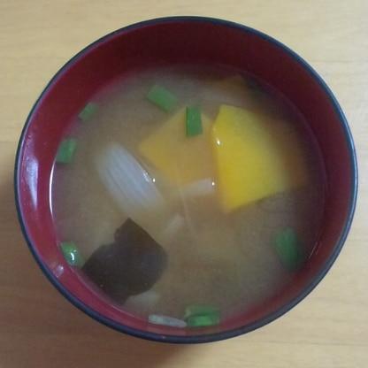 南瓜と玉葱のお味噌汁