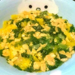 【離乳食中期】パプリカと納豆のネバトロ