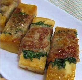 高野豆腐の肉巻き焼き