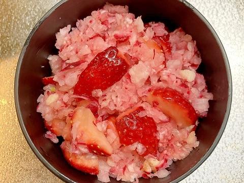 桃色♪レディサラダといちごのおろしサラダ