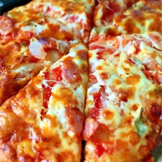 米粉のグルテンフリーピザ♡