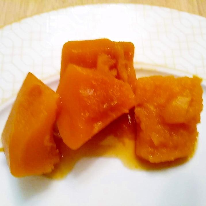 かぼちゃの黒糖煮