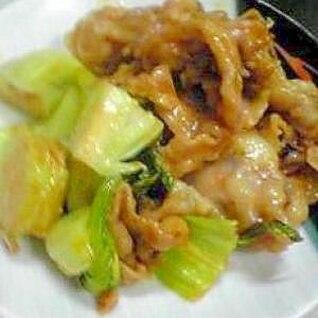 酒の肴:青梗菜と豚肉のケチャップ炒め