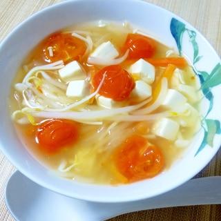 トマトが入った♪洋風酸辣湯