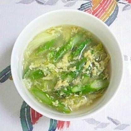 アスパラとレタスの簡単スープ~♫