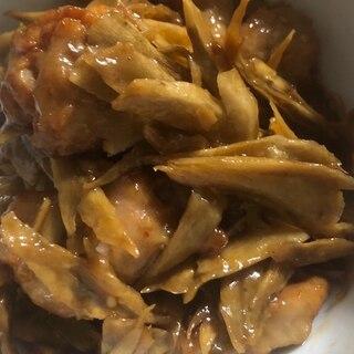 鶏肉ごぼう炒め