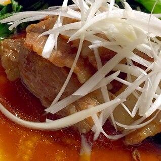 フライパンで作る豚バラ焼き肉用の角煮風