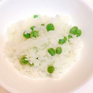 簡単☆グリーンピースご飯