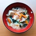 具沢山☆食べるキムチの味噌汁