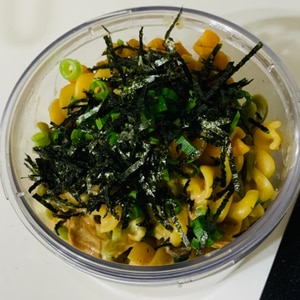 絶妙ソースが簡単に!サバ缶と海苔のフジッリ