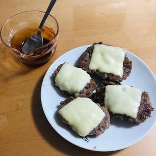 お弁当に♪ズボラな簡単チーズハンバーグ