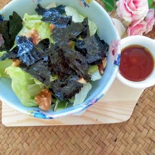 おつまみ♡レタスの海苔のりサラダ