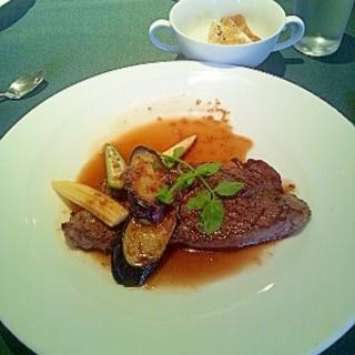 牛肉のステーキ 西洋わさびソース