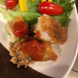 離乳食完了期の取り分けにも☆白身魚のチーズフライ