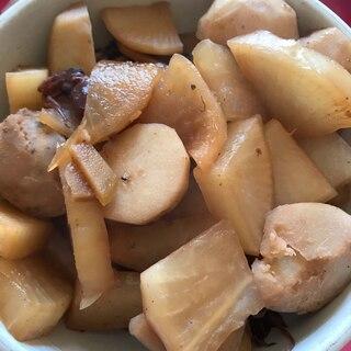 ホタルイカと野菜の煮物