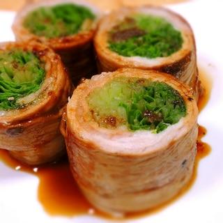 水菜の肉巻き