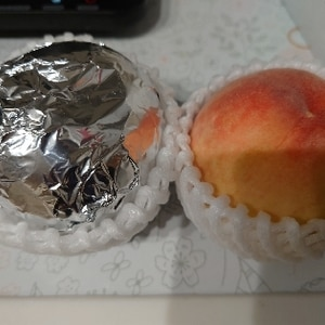 超便利!桃の長期保存☆冷蔵2週間!