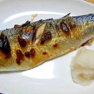 グリルパンを使って鯖の塩焼き