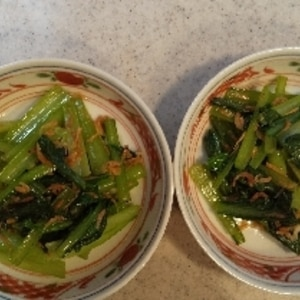 小松菜の桜炒め