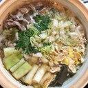 すき焼き風牡丹鍋