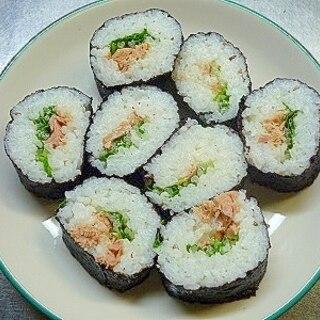 水菜とツナの海苔巻き