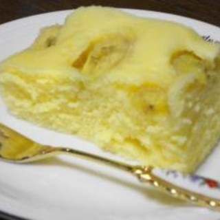 レンジで4分♪バナナ蒸しパン♪
